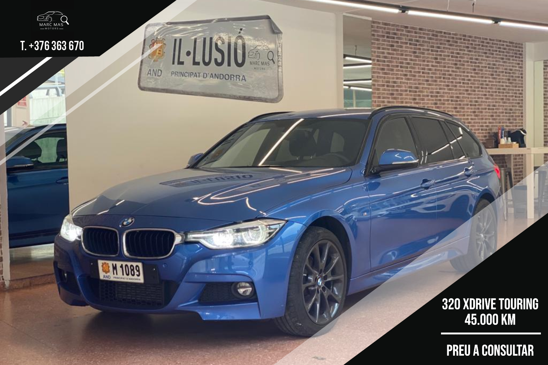 BMW - 320 D - 320D XDRIVE TOURING 320D XDRIVE TOURING Dièsel  2018  45.000 Km